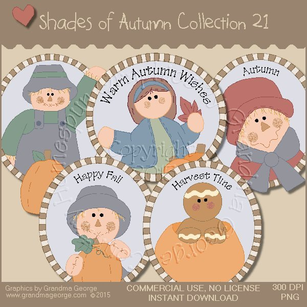 Shades of Autumn Graphics Collection Vol. 21