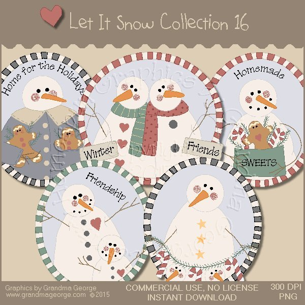 Let It Snow Country Graphics Collection Vol. 16