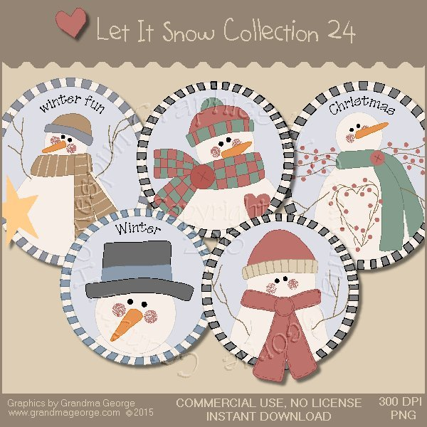 Let It Snow Country Graphics Collection Vol. 24