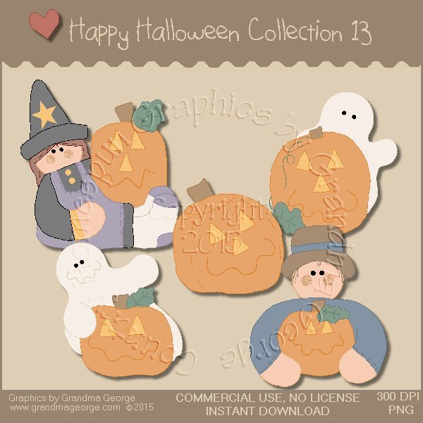 Happy Halloween Graphics Collection Vol. 13