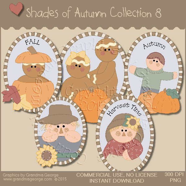 Shades of Autumn Graphics Collection Vol. 8