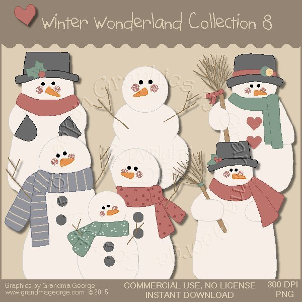 Winter Wonderland Country Graphics Collection Vol. 8