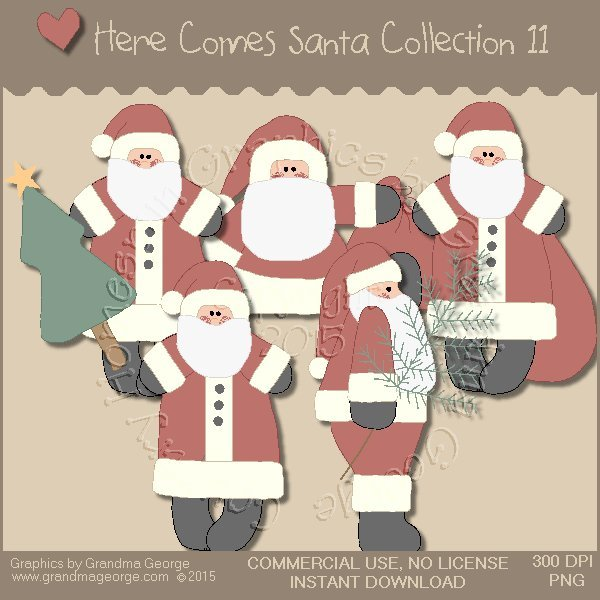 Here Comes Santa Country Graphics Vol. 11