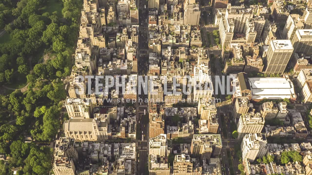 New York City , USA, Video  - Above the Upper East Side of New York City