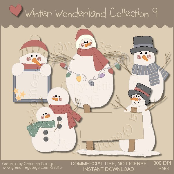 Winter Wonderland Country Graphics Collection Vol. 9
