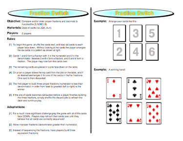 Fraction Switch: Proper Fractions Games