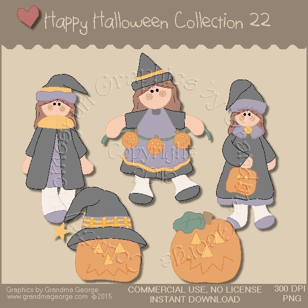 Happy Halloween Graphics Collection Vol. 22