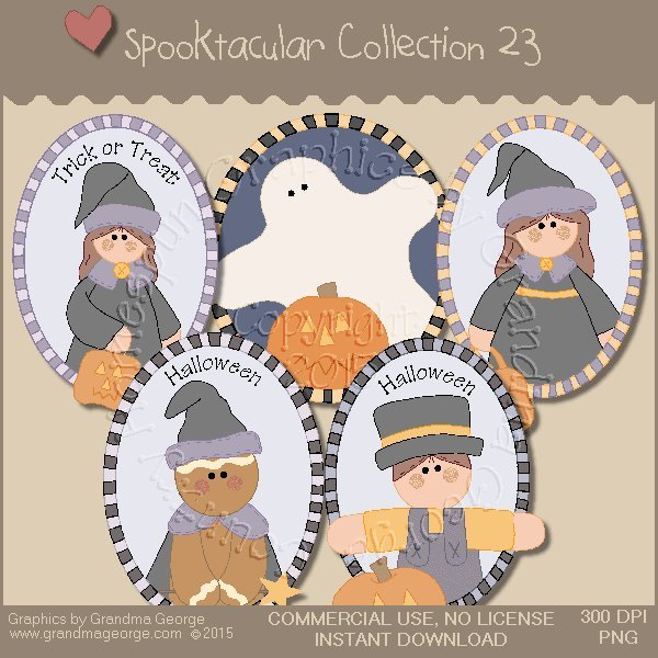 Spooktacular Halloween Graphics Collection Vol. 23