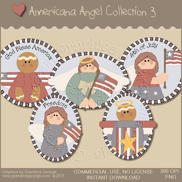 Americana Angel Graphics Collection Vol. 3