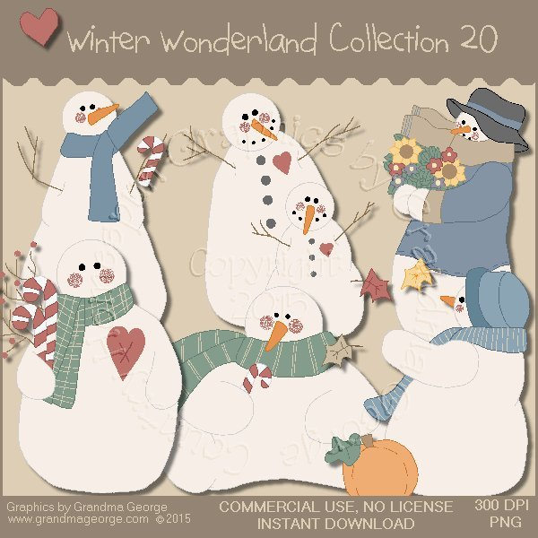 Winter Wonderland Country Graphics Collection Vol. 20