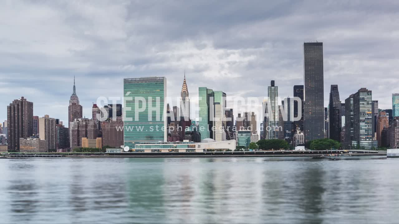 New York City , USA, Hyperlapse  - New York City Midtown from the Queens