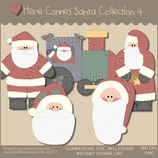 Here Comes Santa Country Graphics Vol. 4