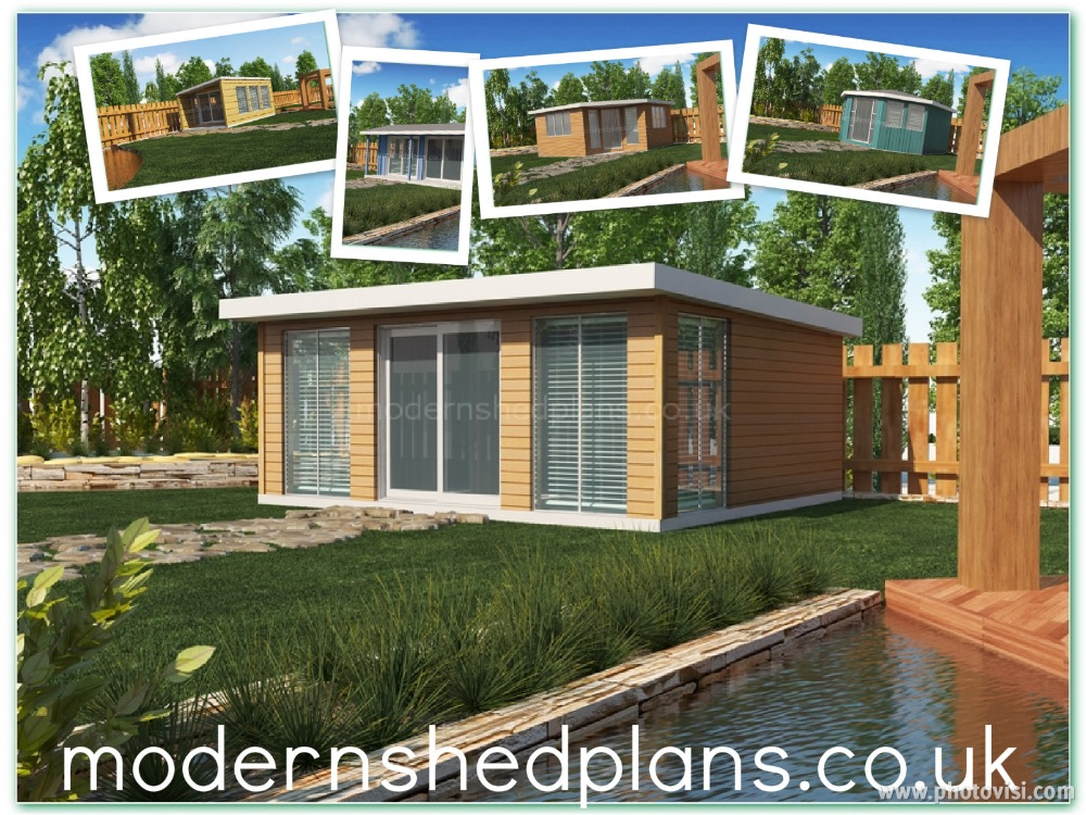 All 10 Modern Shed Plans with about 200 pages !