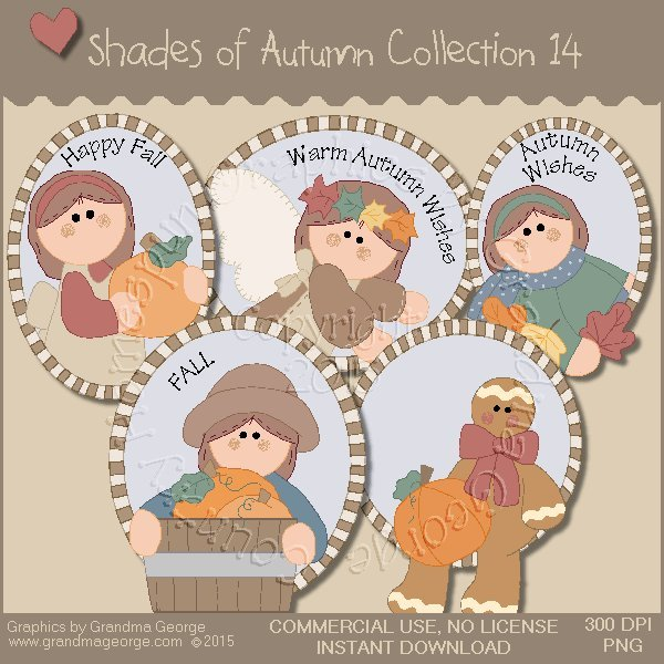 Shades of Autumn Graphics Collection Vol. 14