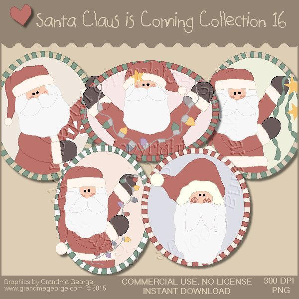 Santa Claus is Coming Country Graphics Vol.16