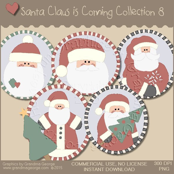 Santa Claus is Coming Country Graphics Vol. 8