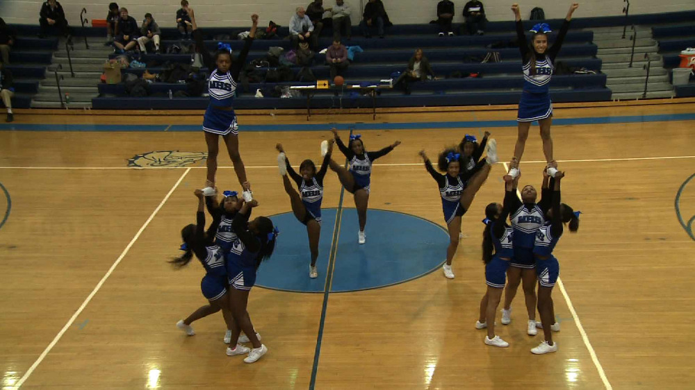 Montclair H.S. cheerleading performance
