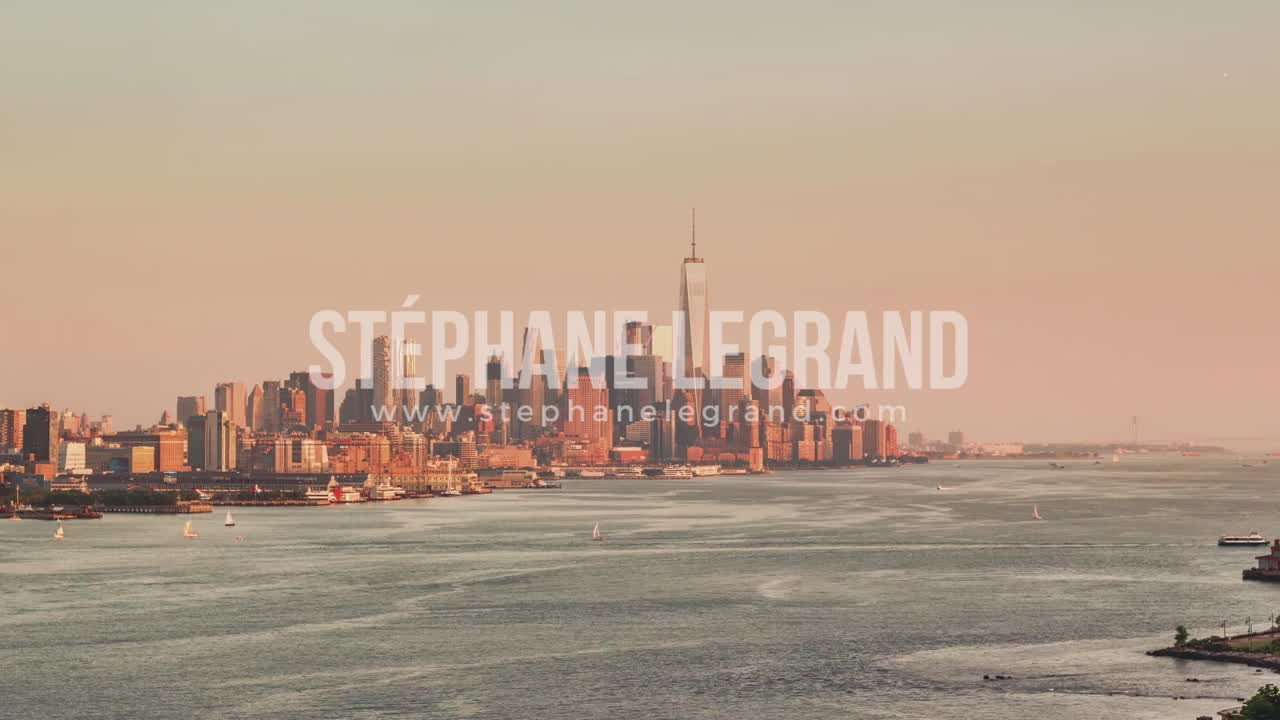 New York City , USA, Timelapse  - Lower Manhattan from the New Jersey