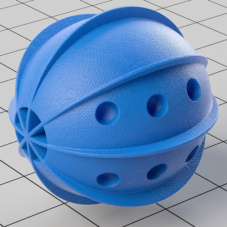 Modo Shader - Rubberized Blue Plastic