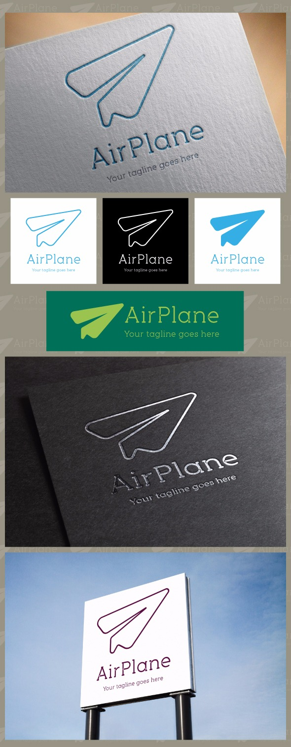 AirPlane Logo Template.