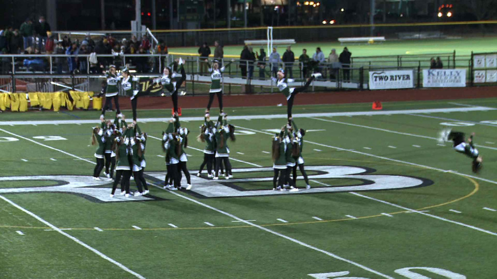 Red Bank Catholic cheerleading performance