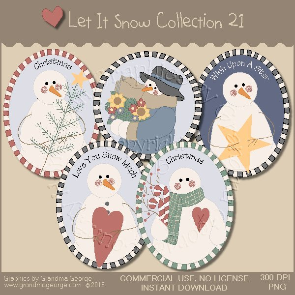 Let It Snow Country Graphics Collection Vol. 21