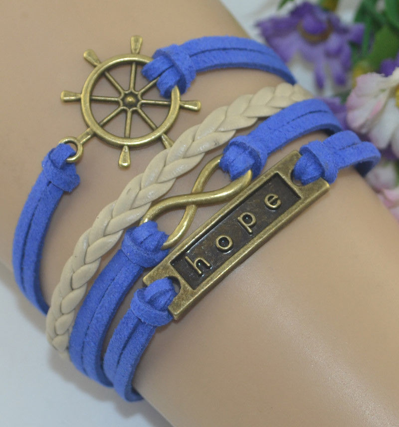 Leather Friendship Bracelet - eternal hope bracelet
