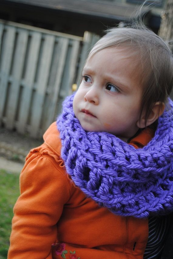 Liliac purple Crochet Scarf for Todlers