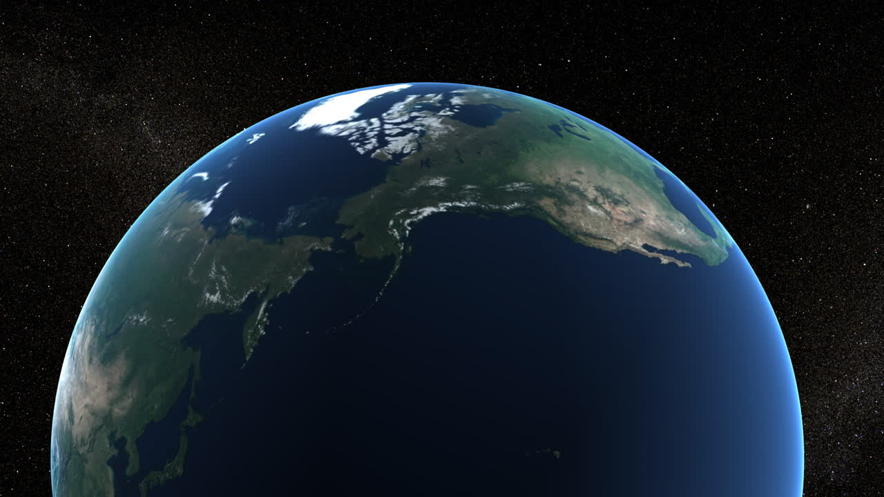 Earth Northern Hemisphere (Animation)