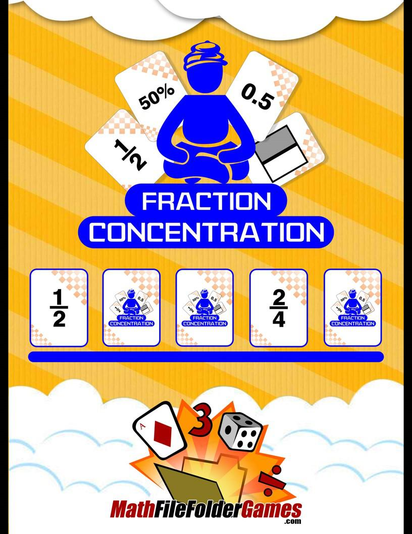 Fraction Concentration (Fractions, Decimals & Percents)