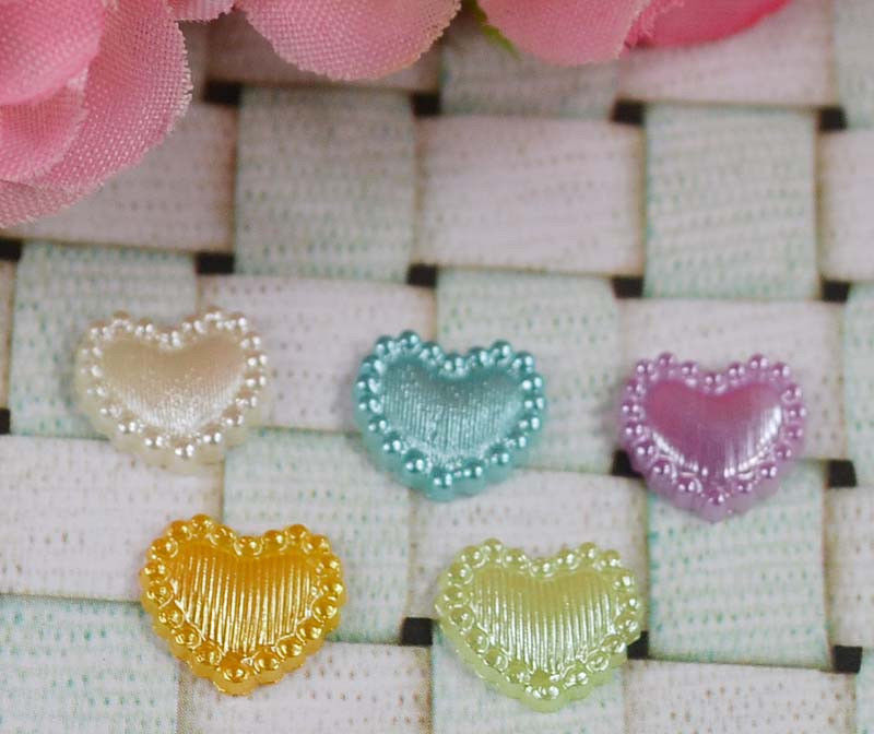 Resin Flat Back Hearts perfect for Crafting