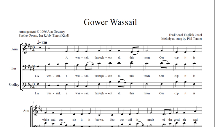 Gower Wassail: licensed for 1-10 singers