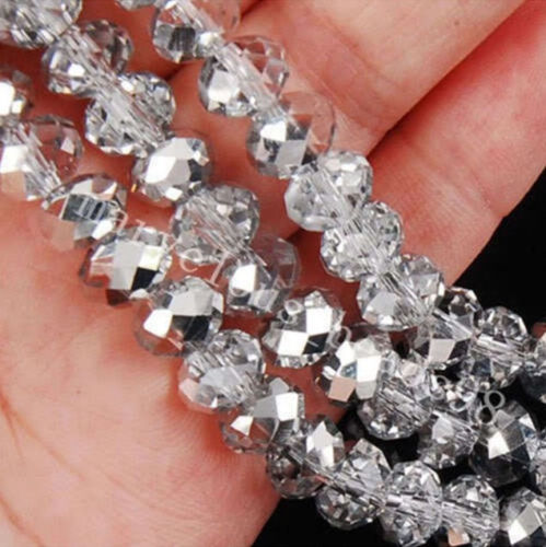 Faceted Rondelle Bicone Glass Crystal Jewelry Beads 4mm