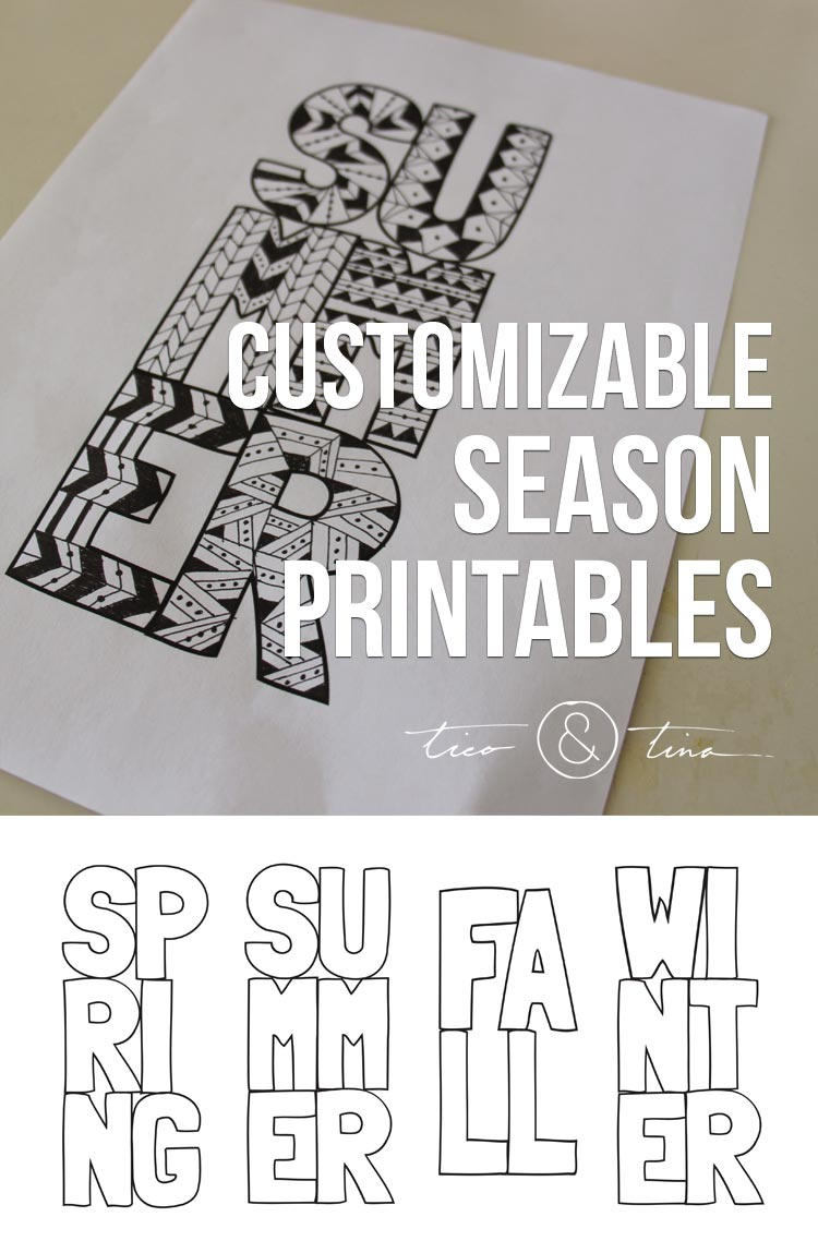 Customizable Season Printables