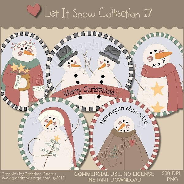 Let It Snow Country Graphics Collection Vol. 17