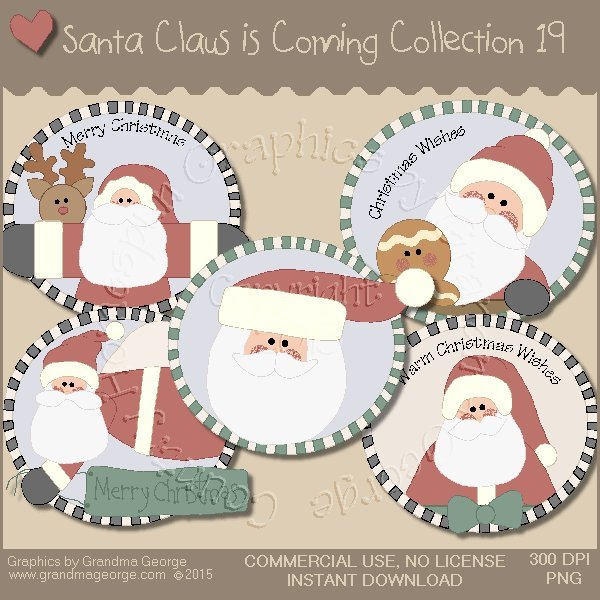 Santa Claus is Coming Country Graphics Vol.19