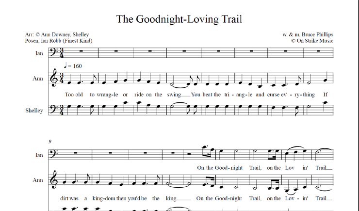 The Goodnight Loving Trail: licensed for over 30 singers
