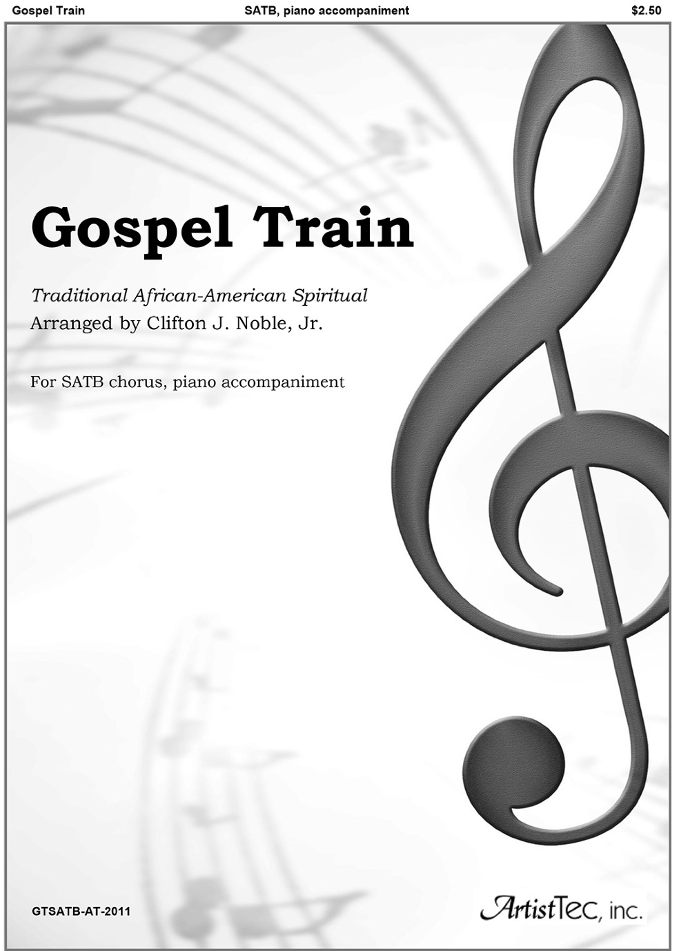 Gospel Train (SATB, piano)