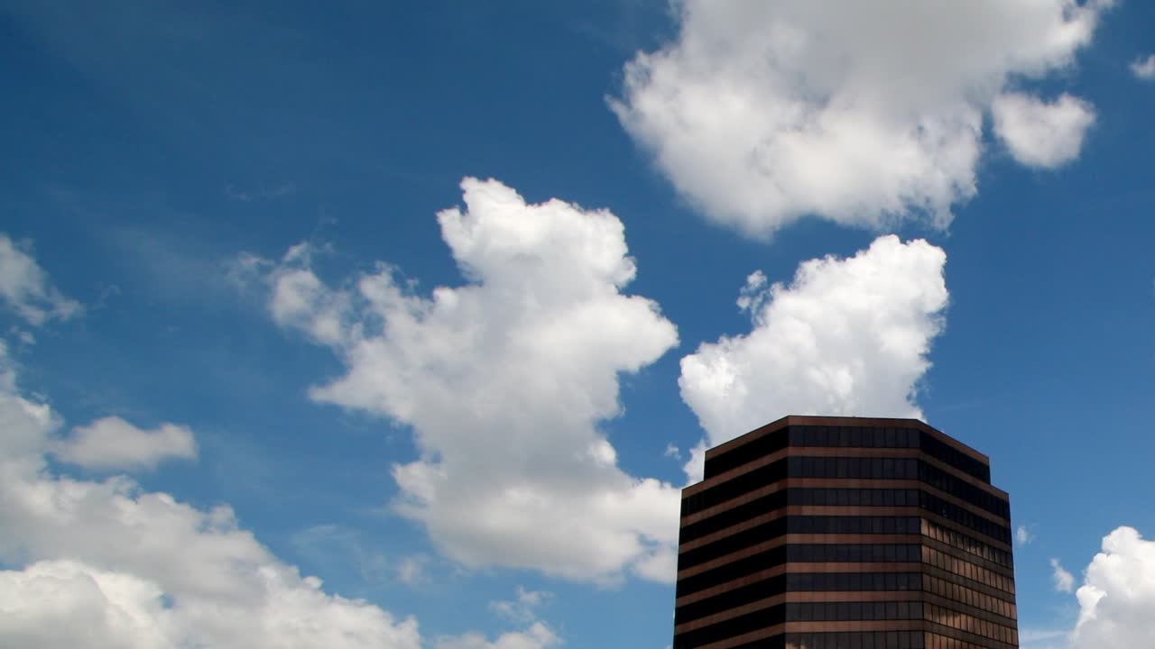 Cloudy Building Top (Time-Lapse)