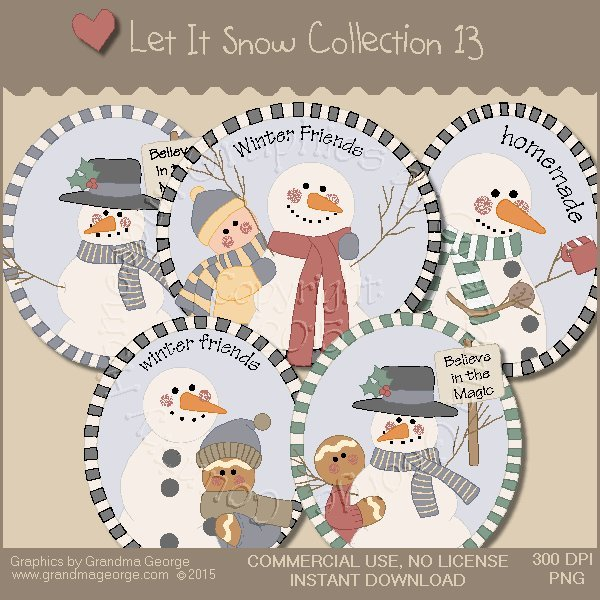 Let It Snow Country Graphics Collection Vol. 13