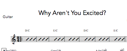 Why Aren't You Excited? - Digital Sheet Music