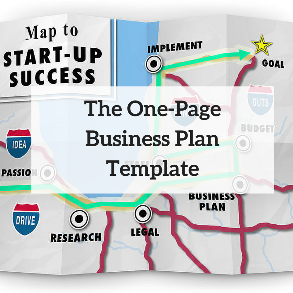One-Page Business Plan Template (Instant Download!)