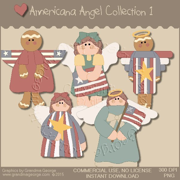 Americana Angel Graphics Collection Vol. 1