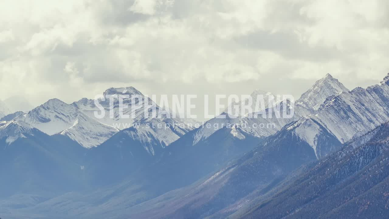 Banff, Canada, Timelapse  - The Mountains in Banff