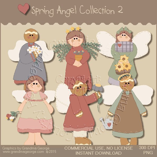 Spring Angel Graphics Collection Vol. 2