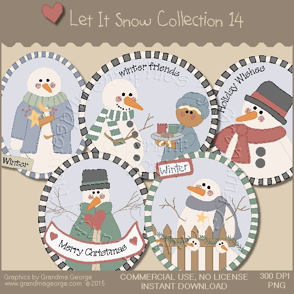 Let It Snow Country Graphics Collection Vol. 14