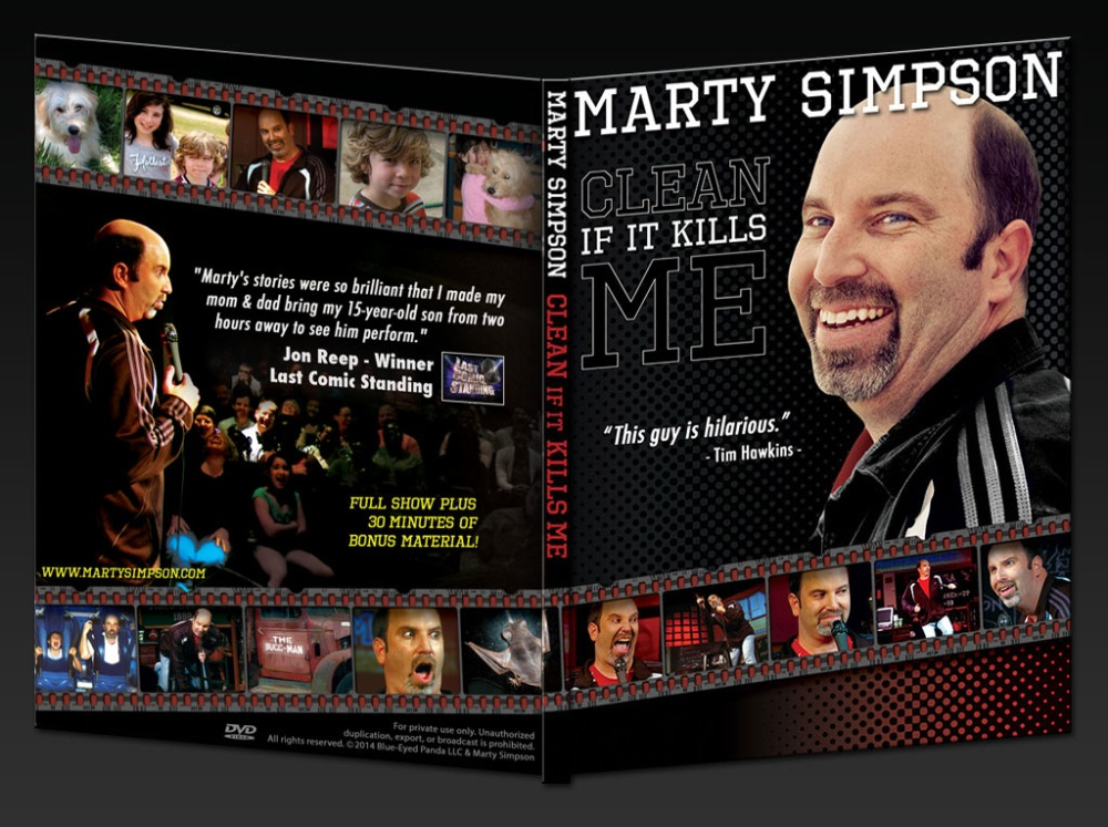 ACTUAL DVD - Marty Simpson: Clean If It Kills Me