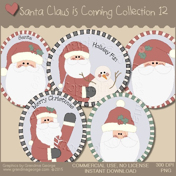 Santa Claus is Coming Country Graphics Vol.12