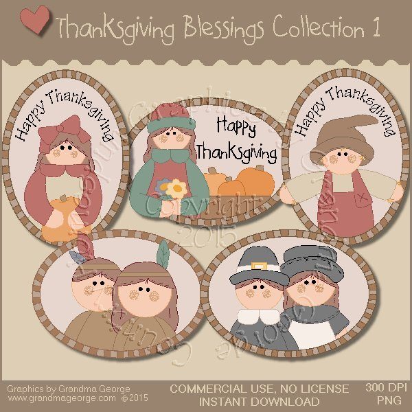 Thanksgiving Blessings Collection Vol. 1