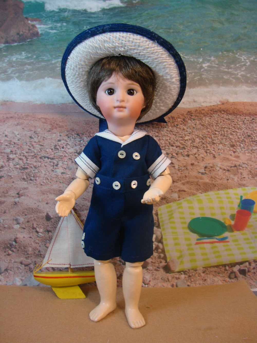 Loulotte Pattern Boy's Beach Outfit